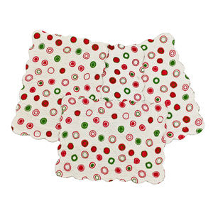NWT Christmas Bubbles Quilted Place Mats Set of 4